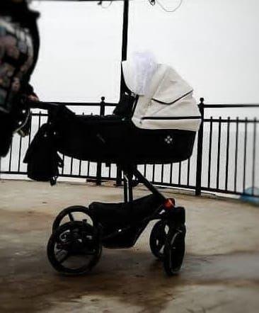 wózek głęboki czarno-biały 3w1 Bebetto Torino