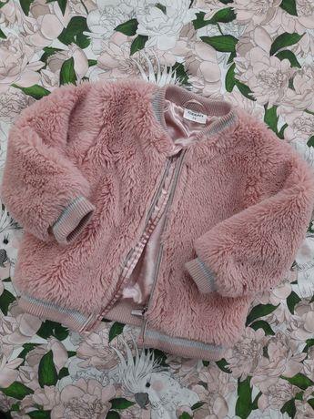 Bomberka kurtka KAPPAHL futerkowa rozmiar 74 pudrowy róż