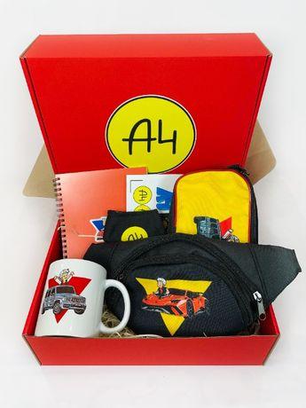 А4 набор - Подарочный Бокс Влад Бумага А 4 Maxi Box Пенал бананка