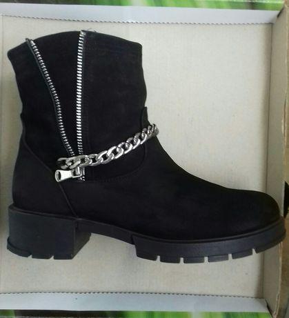 Сапожки сапоги женские ботинки зимние осенние демисезонные.Туфли Итали