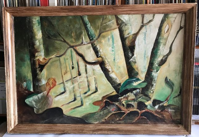 Quadro Abstrato Antigo