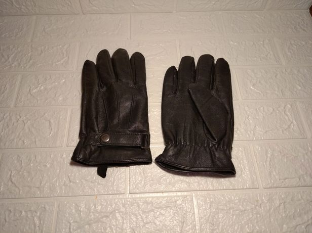Мужские утеплённые перчатки из натуральной кожи