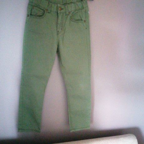 Spodnie H&m 128 zielone