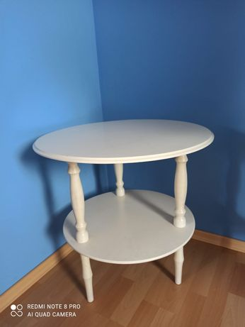 Stolik okrągły biały
