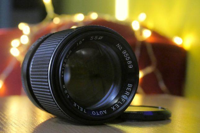 Obiektyw Beroflex 135mm f/2.8 M42 stan dobry EF M43