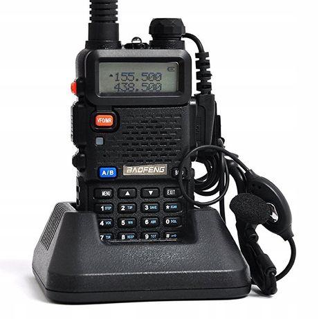 Radiotelefon Baofeng UV-5R 5w SKANER STRAŻ POLICJA PKP Odblokowany!