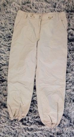 Beżowe spodnie, bojówki, dres, rozmiar XL, next, gumki, regulowane.