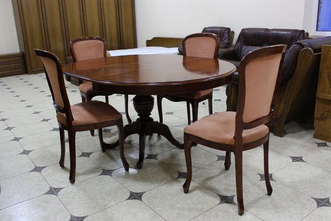 Стол круглый с 4 стульями с Германии в хорошем состоянии !!!