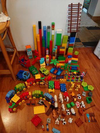 Klocki LEGO Duplo 5kg zwierzaki, ludziki, samochody, pociągi Warszawa