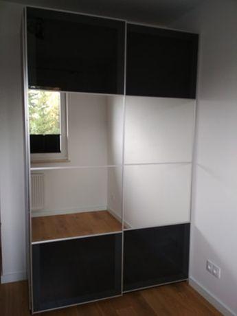 Ikea PAX 4 szklane panele UGGDAL do ramy drzwi przesuwanych