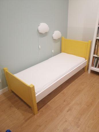 Łóżko dziecięce 160x70 drewniane, żółte