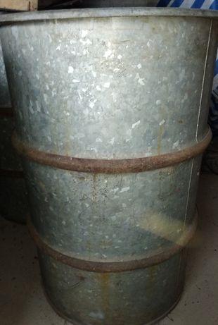 Beczka metalowa ocynkowana 200l