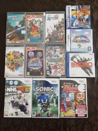 Jogos Wii, Gamecube, PSP, Dreamcast, Nintendo DS e Gameboy Advance