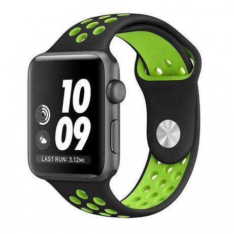 Силиконовый ремешок Nike на Apple Watch 38 40 42 44 mm small large