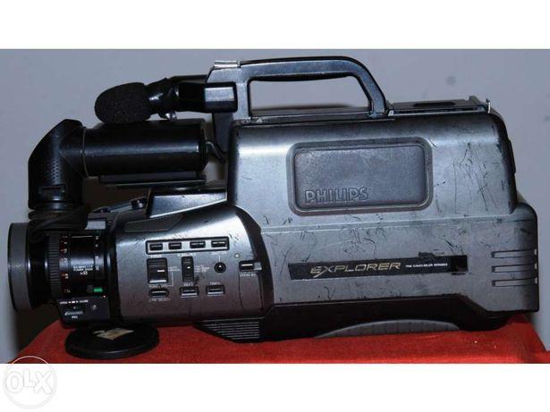 Máquina de filmar e leitor philips explorer vhs