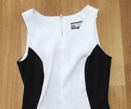 biała czarna szara sukienka 36 34 xs s NEXT berska cubus zara h&m peek