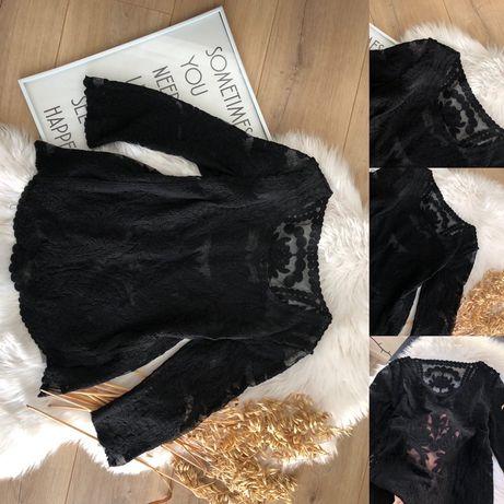 Чорна блуза з вишивкою