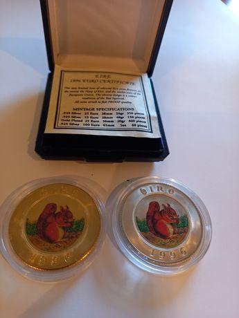 Moedas prata e prata dourada 25€ Esquilo - Irlanda