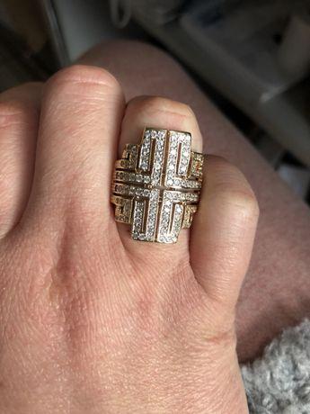 Cudowny duży złoty pierścionek !!!