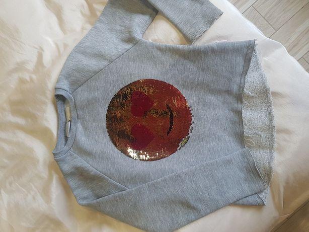 Кофта реглан свитшот с эмоджи (паетки перевертыши)