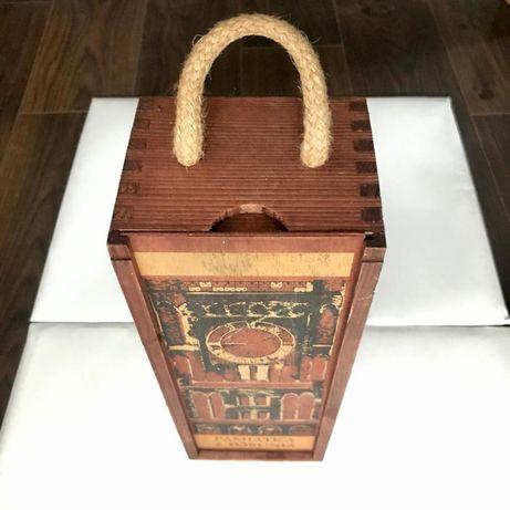 Drewniana skrzynka, pudełko na wino - jak nowe