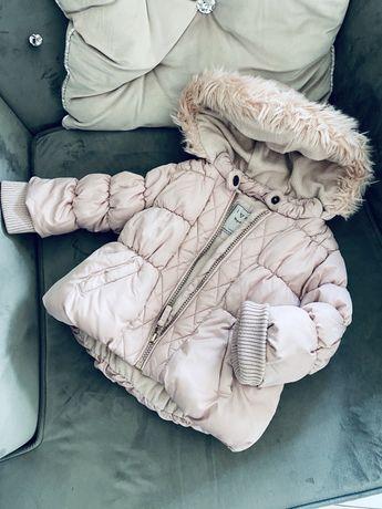 Zimowa kurtka next jasno różowa
