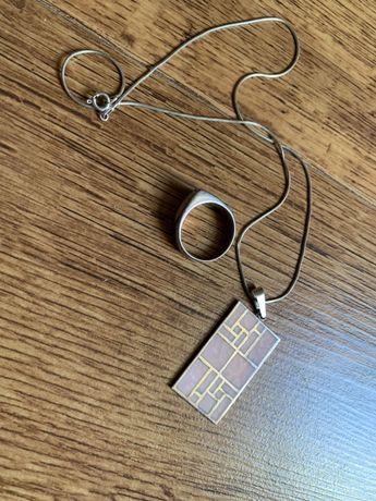 Komplet srebrnej biżuterii Apart