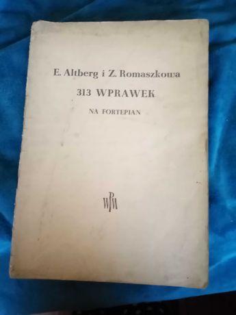 Tytuł: 313 wprawek na fortepian  Autor: . Altberg  Romaszkowa 1957r.