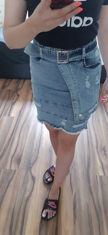 Jeansowa spódniczka S