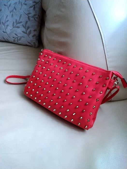 Czerwona torebka z dżetami - OKAZJA! Olkusz - image 1