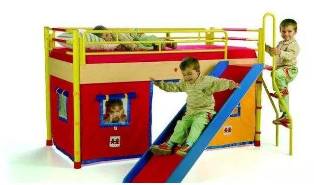 Детская кровать-домик с горкой Cilek Чилек
