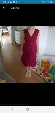 Sukienka burgund l
