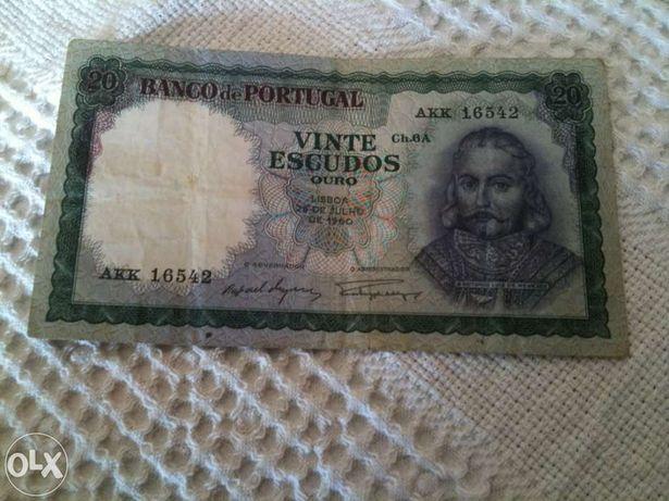 20 Escudos Antònio Luis de Menezes