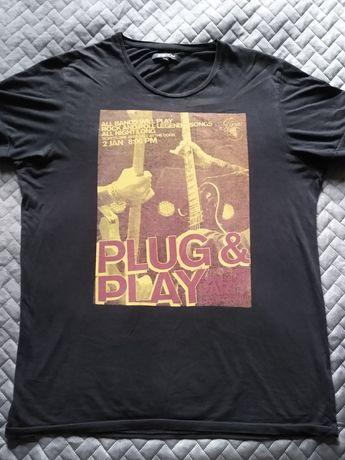 Koszulka T shirt blues gitary, Jack and Jones
