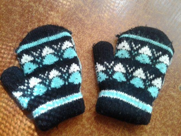 Детские рукавички, варежки на 2 - 4 года