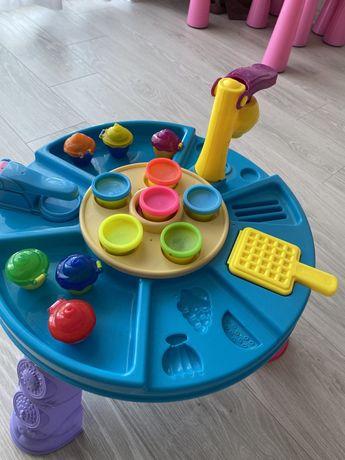 Фабрика морозива,Play doh,столик