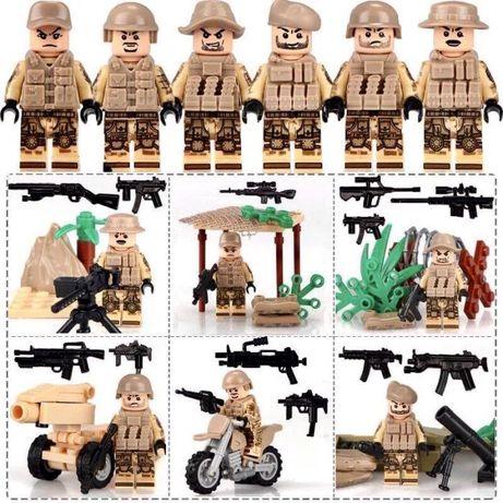 Мини-фигурки swat спецназовцы военные армия лего Lego BrickArms