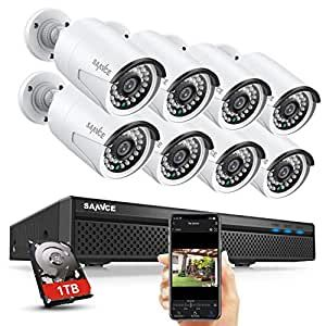 SANNCE POE zestaw 8 kamer do monitoringu - rejestrator 1 TB