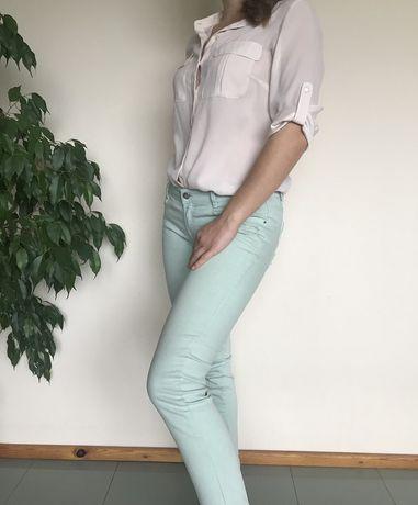 Spodnie, rurki, skinny, zara