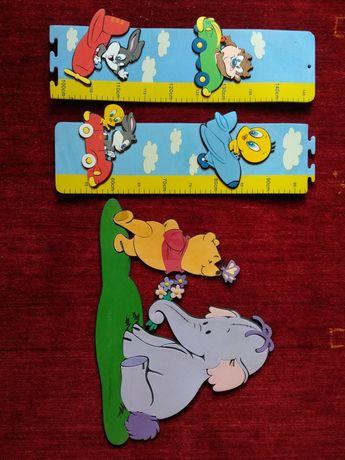 Dekoracja piankowa Disney i miarka piankowa do pokoju dziecięcego