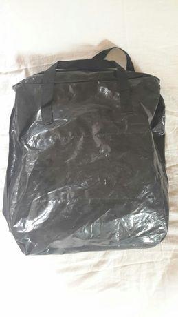 Torba na buty z przegródkami na 6 par plastikowa czarna z uchwytami