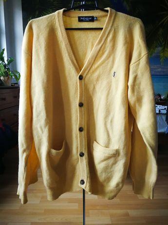 YSL Yves Saint Laurent vintage sweter męski 100% wełna XL t 5