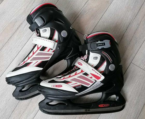 HY SKATE hokeje roz 41 wkładka 26,5 cm, torba NOWE