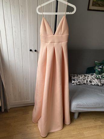 Sukienka piankowa dluga S