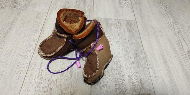 Ботиночки-пинетки зимние