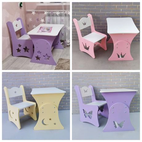 Растущий стол, детский столик, стол МДФ, стіл дитячий