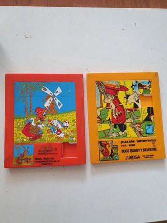 Puzzle labirinto bugs bunny e silvestre e os três patinhos disney