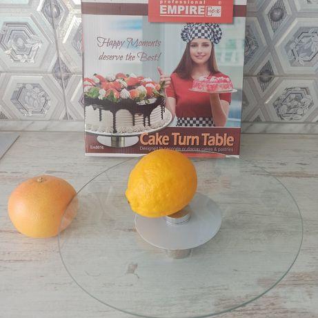 Подставка для торта, стеклянная подставка круглая, круглая подставка