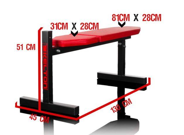 Ławka Esus ŁAWECZKA prosta na siłownię 130 cm x 51 cm x 45 cm