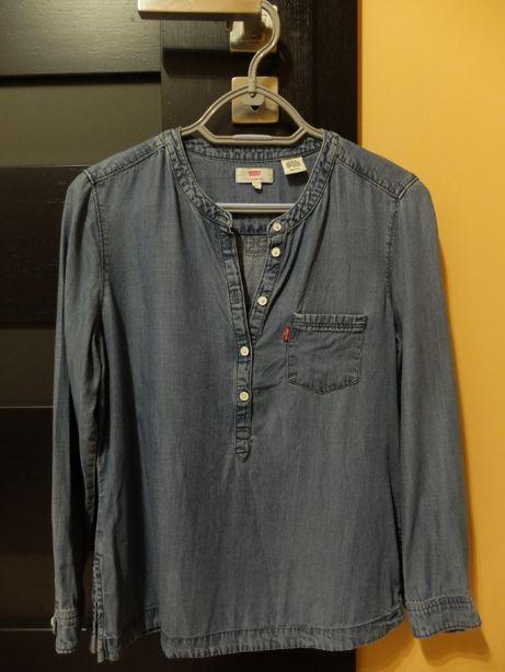 niebieska bluzka z lyocelu LEVIS damska długi rękaw XS